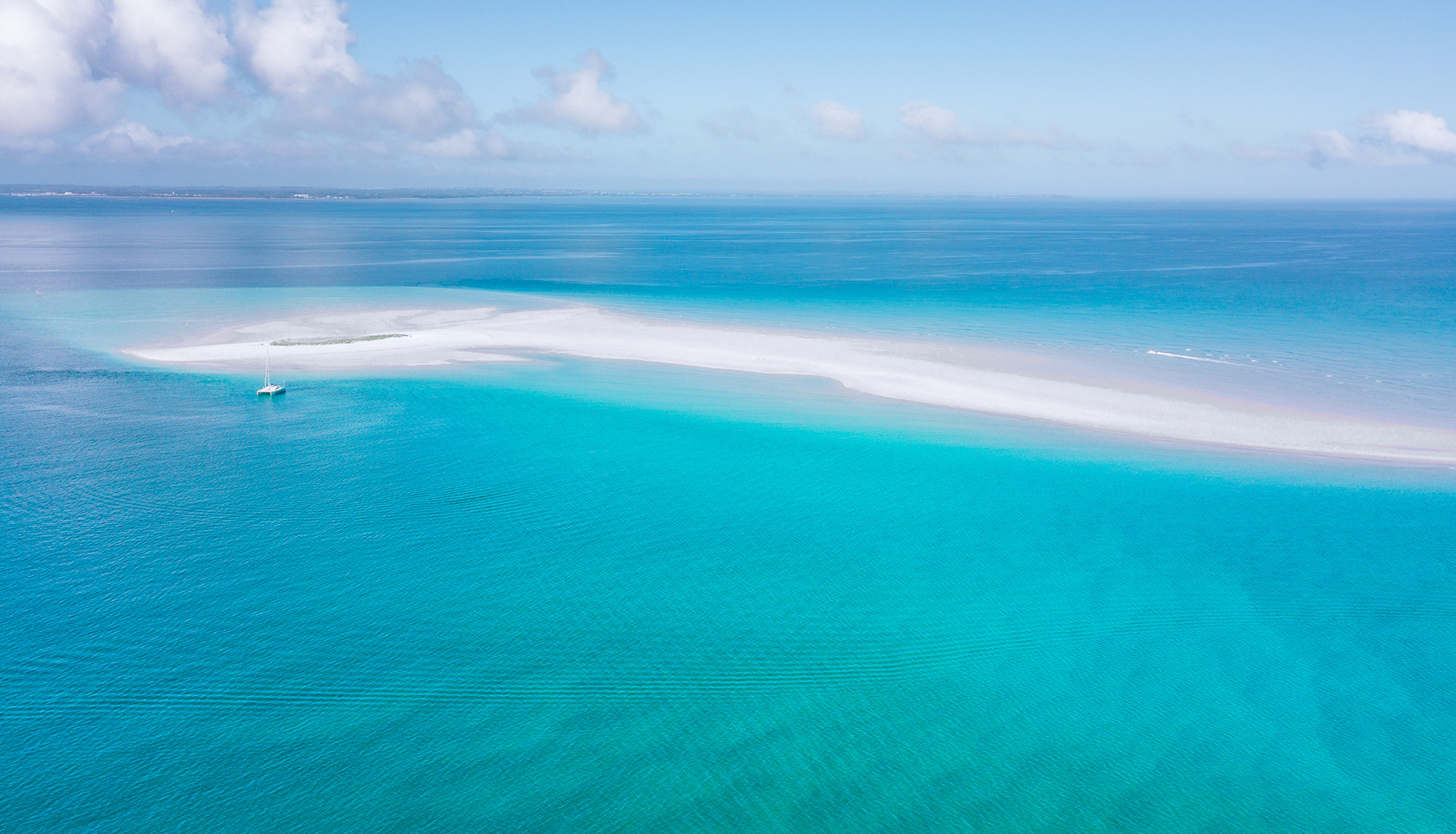 Aerial image of Moon Point Bank Fraser Island
