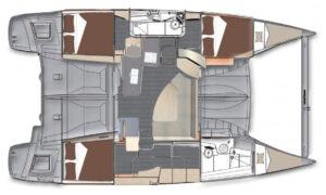 Sumo Fountaine Pajot Lipari Evolution 41' layout