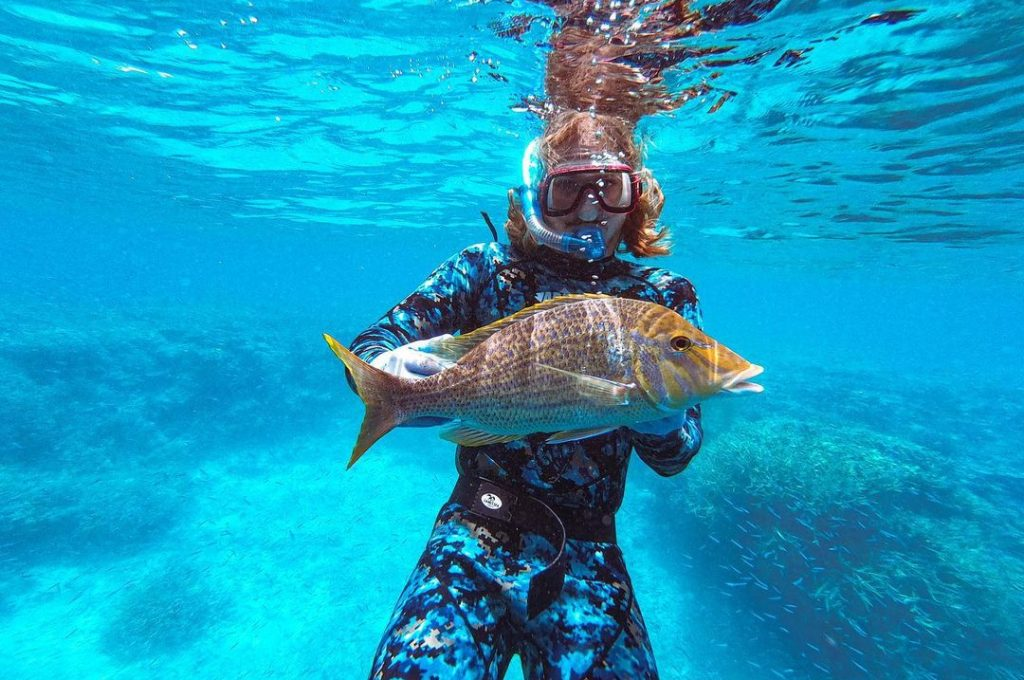 Spearfishing Lady Musgrave